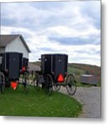 Amish Country Carts Autumn Metal Print