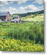 Amish Country Farm Warrens Metal Print
