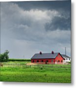 Amish County Landscape Metal Print