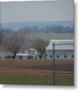 Amish Farm After Harvest Metal Print