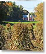 Amish Farm Country Fall Metal Print