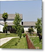 Amish House Metal Print