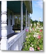 Amish Porch Metal Print