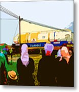 Amish Watching A Nuclear Reactor Go By Metal Print