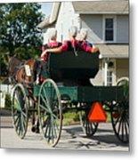 Amish Women Metal Print