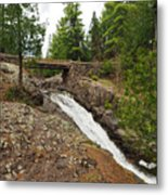 Amity Creek Falls Metal Print