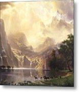 Among_the_sierra_nevada_mountains Metal Print