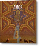 Amos Books Of The Bible Series Old Testament Minimal Poster Art Number 30 Metal Print