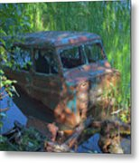 Amphibious Vehicle Metal Print
