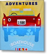 Amphicar Adventure Sign Metal Print