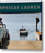 Amphicar Launch Metal Print
