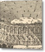 Amphitheater Of Verona Metal Print
