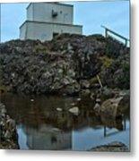 Amphitrite Point Lighthouse Reflections Metal Print