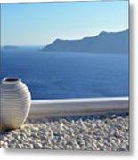 Amphora In Santorini, Greece Metal Print