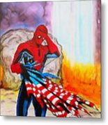 Ams 9/11 Tribute Illustration Edition Metal Print