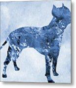 Amstaff-blue Metal Print