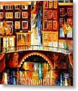 Amsterdam - Little Bridge Metal Print