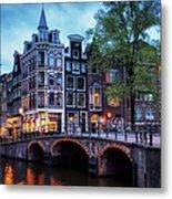 Amsterdam At Twilight Metal Print