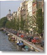 Amsterdam Canal Metal Print