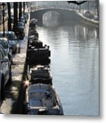 Amsterdam Canal In Winter Metal Print