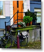 Amsterdam Door Metal Print