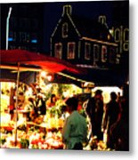 Amsterdam Flower Market Metal Print