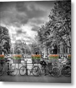 Amsterdam Gentlemens Canal Typical Cityscape Metal Print