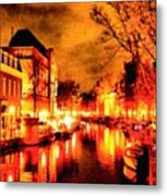 Amsterdam Night Life L A S Metal Print