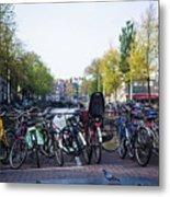 Amsterdam Parking Lot Metal Print