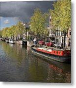Amsterdam Prinsengracht Canal Metal Print