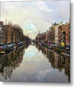 Amsterdam Reflected Metal Print