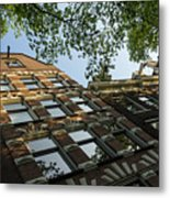 Amsterdam Spring - Fancy Brickwork Glow - Left Horizontal Metal Print