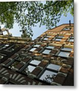 Amsterdam Spring - Fancy Brickwork Glow - Right Horizontal Metal Print