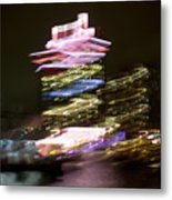 Amsterdam The Netherlands A'dam Tower Abstract At Night. Metal Print