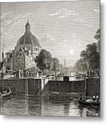 Amsterdam, View On The Singel. From The Metal Print