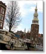 Amsterdam Waterviev Metal Print