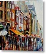 Amsterdam's Rain Metal Print