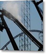 Amusement Park Abstract Metal Print