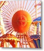 Amusement Rides Metal Print