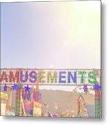 Amusements Metal Print