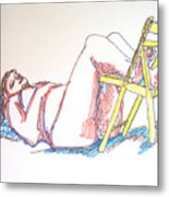Bonnie And Chair Metal Print