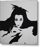 Amy Lee Reflection Metal Print
