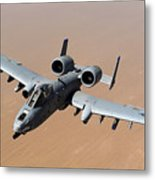 An A-10 Thunderbolt II Over The Skies Metal Print