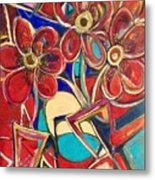 An Abstract Floral Metal Print