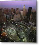An Aerial View Of Ground Zero Metal Print