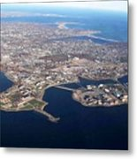 An Aerial View Of Naval Station Newport Metal Print