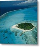 An Aerial View Of Saipan Island Metal Print