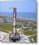 An Aerial View Of The Apollo 15 Metal Print
