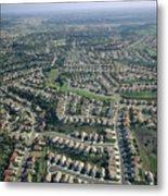 An Aerial View Of Urban Sprawl Metal Print