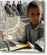 an Afghan child Metal Print